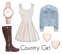 """""""Cute Country Girl Outfit"""" by rosegirlxox on Polyvore featuring rag & bone, Poppy Finch, Topshop and country"""