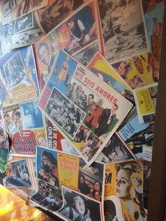 Magazine collage wall