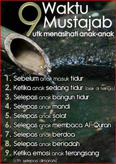 9 waktu Mustajab untuk menasihati anak2 Islamic Inspirational Quotes, Islamic Quotes, Parenting Quotes, Kids And Parenting, Islamic Posters, Religion Quotes, Learn Islam, Prayer Verses, Islamic Messages