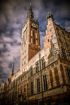 """Ratusz Starego Miasta, """"Old Town Hall"""", Gdańsk // by Kamila Bobrzak Danzig, Poland History, Gdansk Poland, Poland Travel, Heart Of Europe, Central Europe, What A Wonderful World, Town Hall, Most Visited"""