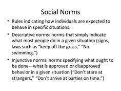 social norms decriptive - Google Search