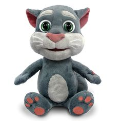The Talk Back Mimicking Tomcat - This is the plush Tomcat that repeats anything said to it in a cartoonish voice. Inspired by a popular smartphone app, a press of his paw enables him to record anything he hears and mimic the speaker in a high-pitched voice. #HammacherHolidays