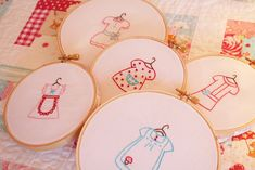 those stitching images would look wonderful in a little girl room :)