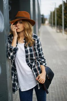 Love classic casual clothes....jeans, white thirst and a checked shirt.