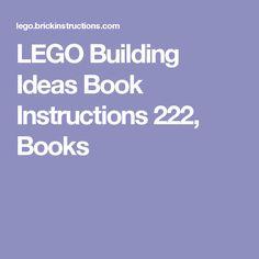 LEGO Building Ideas Book Instructions 222, Books
