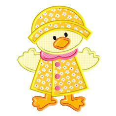 Rainy Day Duckie 2 Applique
