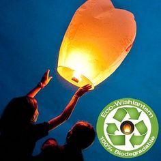 White Eco Wish Lantern (Five Pack)
