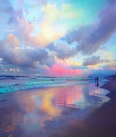 Clouds come floating into my life no longer to carry rain or Usher storm but to add color to my Sunset sky. #Clouds #sunset #sunrise #pinkclouds #sky #beach #mermaidlofe #beautiful #ocean #water #earth #nature