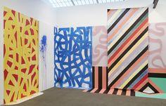 """Juxtapoz Magazine - Sarah Cain """"Burning Bush"""" @ Galerie Lelong, NYC"""