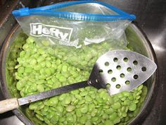 Faye's Sewing Adventure: How to Freeze Lima Beans and Okra