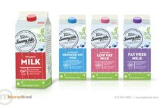 Sunnyside Farms Dairy Packaging Design by Murray Brand Communications