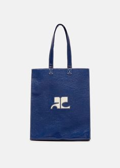 Medium Vinyl Tote Bag by Courrèges- La . Vinyl Skirting, 20th Century Fashion, Mod Fashion, Inventions, Mini Skirts, Reusable Tote Bags, Footwear, Shoulder, Leather