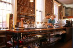The mad-scientist feel of Revolver Brew Bar in Vancouver.