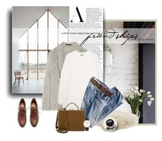 """""""And a Limp, White Sweater"""" by pattykake ❤ liked on Polyvore featuring Alexander Wang, Allstate Floral, MANGO, Mark Cross, FOSSIL, Daniel Wellington and H&M"""