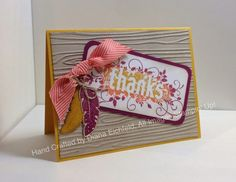 Stampin' Fun with Diana: Stylin' Stampin' INKspiration Color Challenge: Seasonally Scattered, Four Feathers, Big Shot, Framelits, Thanks, Stampin' Up, Diana Eichfeld, Color Challenge