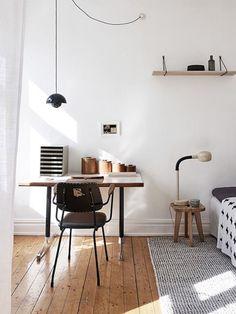 eclectic desk area in modern bedroom / sfgirlbybay