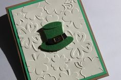 St Patrick's Day Card Embossed by RoyalRegards on Etsy, $3.25