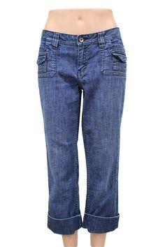 Christopher Blue Blue Stretch Denim Capri Jeans Size 8