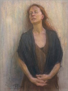 """American Legacy Fine Arts presents """"Lost in Thought"""" a painting by Tim Solliday."""