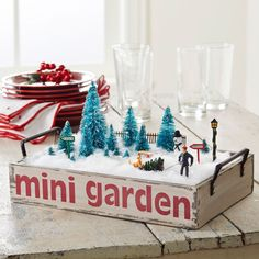 Create a magical winter wonderland for your holiday decor using pieces from our Merry Miniatures collection.