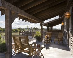 Back patio inspiration (from Ranch Home Decorating Design, Pictures, Remodel, Decor and Ideas)