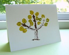 6 Tree Note Cards  Crochet Imprinted in Autumn by CaitlinSainio, $12.00