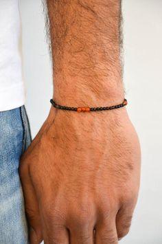 Bracelet Men, Bracelets For Men, Handmade Bracelets, Handmade Products, Beaded Jewelry, Minimalism, Jewelry Making, Beads, Gifts