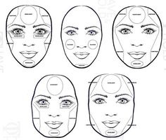 contour & highlight for different face shapes.