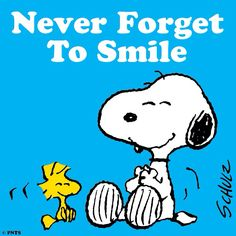 SNOOPY & WOODSTOCK~NEVER FORGET TO SMILE