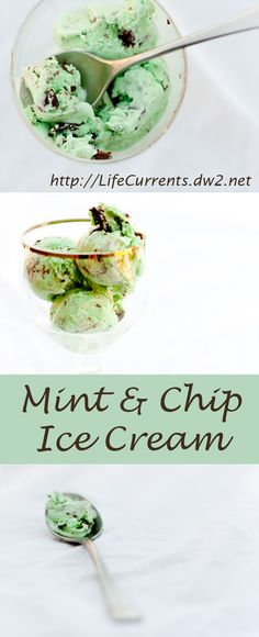 Classic Mint Chocolate Chip Ice Cream that you can make at home. It's super yummy, and my favorite ice cream!