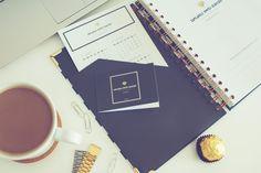 Planner dzienny | Zaplanuj Swój Sukces | Planner Navy Blue Bold