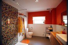 orange Bathroom decoration