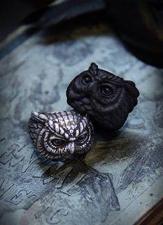 handmade Owl rings