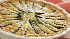 Smoked Salmon & Asparagus Quiche - An easy pat-in-the-pan crust makes quiche making a snap!