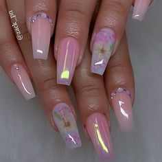 The most popular coffin nails designs come. You can draw great inspiration from each of these beautiful nails! Get ready to save it all! Summer Acrylic Nails, Best Acrylic Nails, Acrylic Nail Designs, Nail Art Designs, Pink Acrylics, Nail Swag, Dream Nails, Dope Nails, Nagel Gel