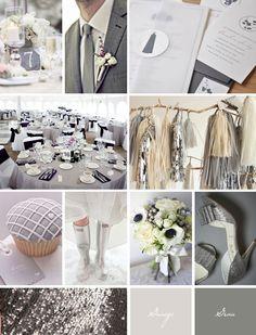 Ideaboard: Grau und ein bisschen Glitzer bitte! - Hochzeitsblog Fräulein K. Sagt Ja