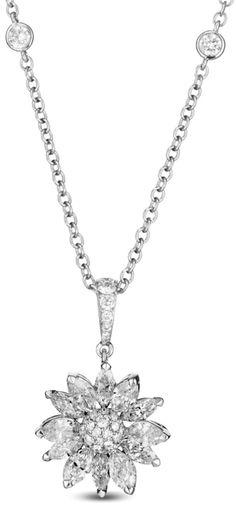 304ct diamond 18k white gold flower necklace floral necklace asprey daisy heritage pendant diamond revisiting the houses archives asprey jewellery designers have mightylinksfo