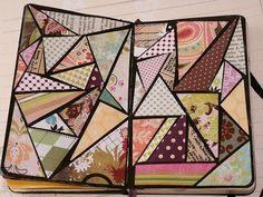 Nice. I like that the spaces between the triangles are thin. Not overpowering. Now I have use for my small scrapbook paper scraps.