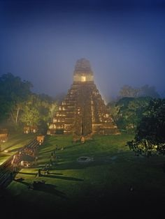 Tikal, Guatemala with the great history of the Mayans would be an great place to visit. The dense jungle and Mayan Temples are truly a sight worth seeing.