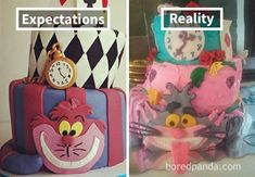 Expectations Vs Reality: 30 Of The Worst Cake Fails Ever Funny Instagram Posts, Funny Posts, Funny Stuff, Funny Fails, Funny Memes, Jokes, Mickey Mouse, Expectation Reality, Funny
