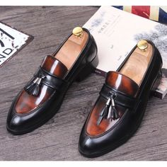 Men Maroon Patent Leather Wedding Prom Dress Moccasins Shoes SKU-1100239