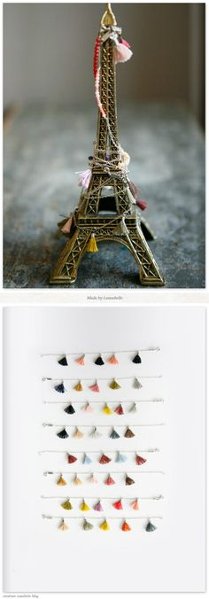 Eiffel Tower souvenir with necklaces dreams-of-paree Tassel Bracelet, Tassel Jewelry, Jewelery, Bracelets, Ties That Bind, Love French, Passementerie, Creature Comforts, Good Company