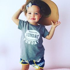 Sunday Funday shirt, football shirt for kids  **All Shirts will have white design except white shirt will have black design. If you would like to request a different color design then please message us prior to ordering.  check out more great shirts at https://www.etsy.com/shop/shophartandsoul   ~~~~~~~~~~~~~~~~~~~~ Fit information ~~~~~~~~~~~~~~~~~~ This shirt fits true to size. Please see last picture for size chart. If you are unsure what size to order we recommend grab...