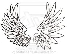 Angel Wing Tattoo by Metacharis