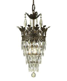 Love this Antique Gold Sovereign Mini-Chandelier by AF Lighting on #zulily! #zulilyfinds
