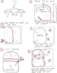 Bag Clothespin Sewing Pattern | Click on the pictures to enlarge and easily print them.