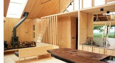 cornwall cross laminated timber house - Google Search Kevin Mccloud Grand Designs, Timber Architecture, Timber Buildings, Timber House, Wood Laminate, Wood Paneling, North Cornwall, Inside A House, Tiny House