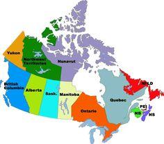 canada map - Buscar con Google