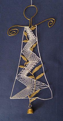Andělské zvonění - krajka Needle Lace, Bobbin Lace, Lace Art, Lacemaking, Point Lace, Lace Jewelry, Freeform Crochet, Lace Patterns, Embroidery Techniques