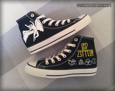 d2c2a67353b8 Led Zeppelin Custom Converse   Painted Shoes Painted Canvas Shoes